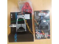 LOOK COMPATIBLE UNION CLIPLESS PEDALS PLUS SPARE SET OF CLEATS NEW IN PACKAGING