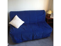 IKEA LYCKSELE HAVET sofa bed, double bed, blue cover, FREE DELIVERY