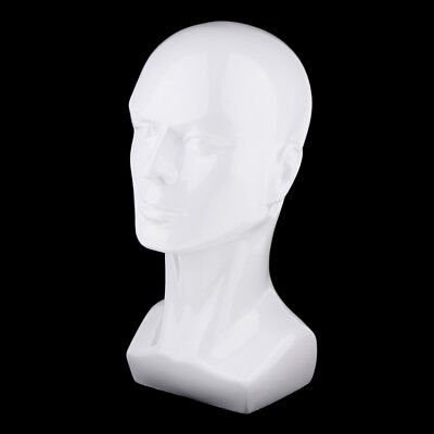 Male Mannequin Head Hair Wigs Hat Cap Glasses Display Model Stand White