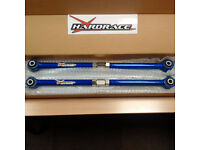 Hardrace Adjustable Rear Control Arms - Hardened Rubber. MINI Cooper S / JCW / GP.
