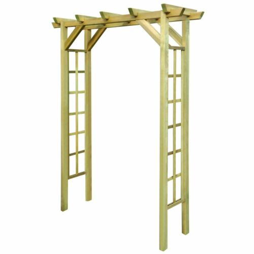 Vidaxl Arbour Rose Arch Fsc Impregnated Wood Outdoor Patio Climbing Plant