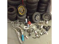 Selection of new tyres and parts for Pit bike