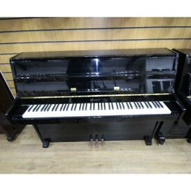 Weber Upright Piano Black Polyester By Sherwood Phoenix Pianos