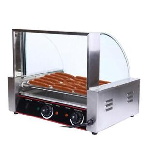 Commercial-24 -Hot-Dog-Grill-Cooker-Machine-sneeze guard - FREE SHIPPING