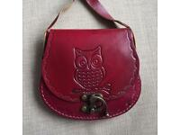Vintage Leather Owl bag