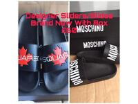 DSquared Moschino Brand New Mens Designer Sliders