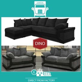 🝋New 2 Seater £229 3 Dino £249 3+2 £399 Corner Sofa £399-Brand Faux Leather & Jumbo CordछN3