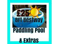 8Ft Bestway Paddling Pool & Extras
