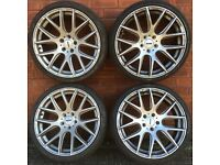19 inch Boston Phoenix oems style alloy wheels & tyres vw audi seat golf caddy a4 a3 passat leon 18