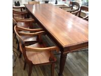 Solid wood table and 6 chairs 8ft x 4ft