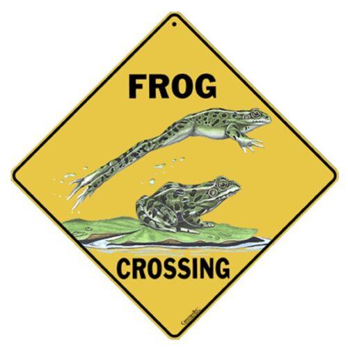 Frog Crossing Sign NEW 12X12 Metal Amphibian Herpetology