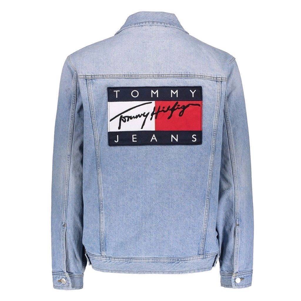 Tommy Jeans Denim Jacket size L by Tommy Hilfiger | in Mile End, London | Gumtree