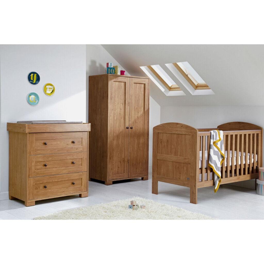Mamas And Papas Bedroom Furniture Mamas Papas Harrow 3 Piece Nursery Furniture Set Dark Oak In