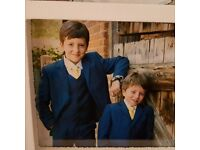 Boys navy 3 piece suits , aged 5 and 9