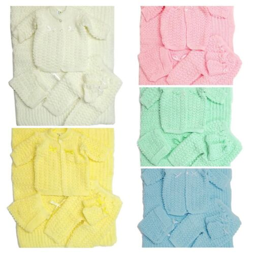 Crochet Baby Blanket and Hat Newborn Outfit Set Mittens Pants Sweater Girl Boy