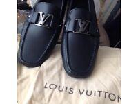 Brand new Louis Vuitton Monte Carlo car shoe black size 10 uk