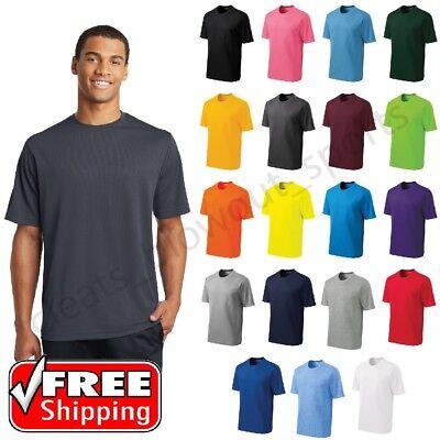 Mens Sport-Tek Micro Mesh T-Shirt Dry Fit Performance Moisture Wicking Tee (Mens Performance Tee)