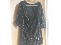Ladies sparkly backless dress