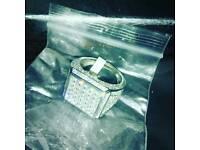 Brand new bling real silver ring hats bags belts coat watch bike coat phone bag