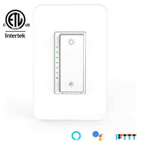 Nexete Smart  Dimmer Light Switch WiFi Works with Amazon Alexa Google Home IFTTT