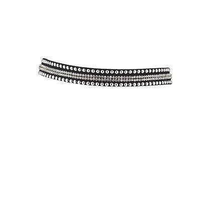 Lux Accessories Black Studded Studs Crystal Rhinestone Choker - Stud Choker