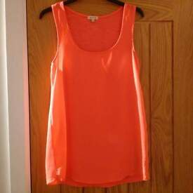 Ladies River Island Bright Pink Top Size 8