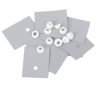 Pack of 10pcs TO-220 Silicone Thermal Heatsink Insulator Pads with Particles
