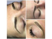 Permanent makeup microblading eyebrows ombre hairstroke 120£