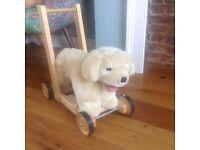 Baby walker- sturdy Labrador design originally from John Lewis