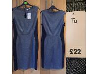 Flattering work dress - Tu - size 14, bnwt