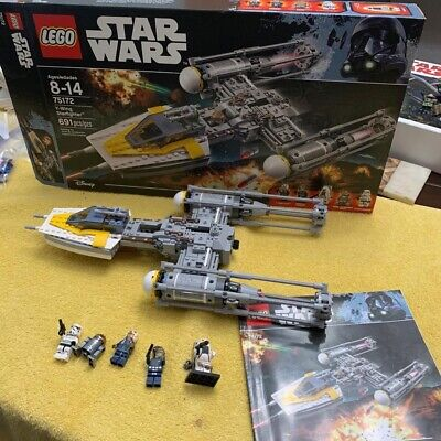 LEGO Star Wars Y-Wing Starfighter 75172 Complete With Minifigures, Inst And Box