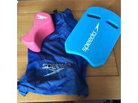 Speedo float, leg float and bag