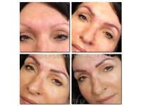 Microblading, Ombre eyebrows, eyeliner, shadows