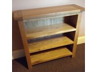 100% solid oak bookcase - new
