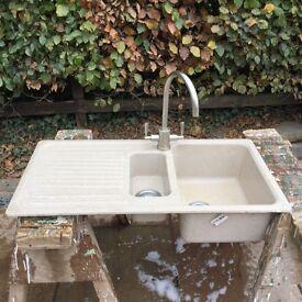 1.1/2 bowl corian sink & taps