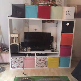 IKEA Lappland TV Unit & Storage (8 Drona storage boxes inc) Offers accepted!