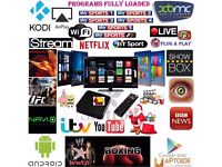 Android TV Box With Kodi & Mobdro