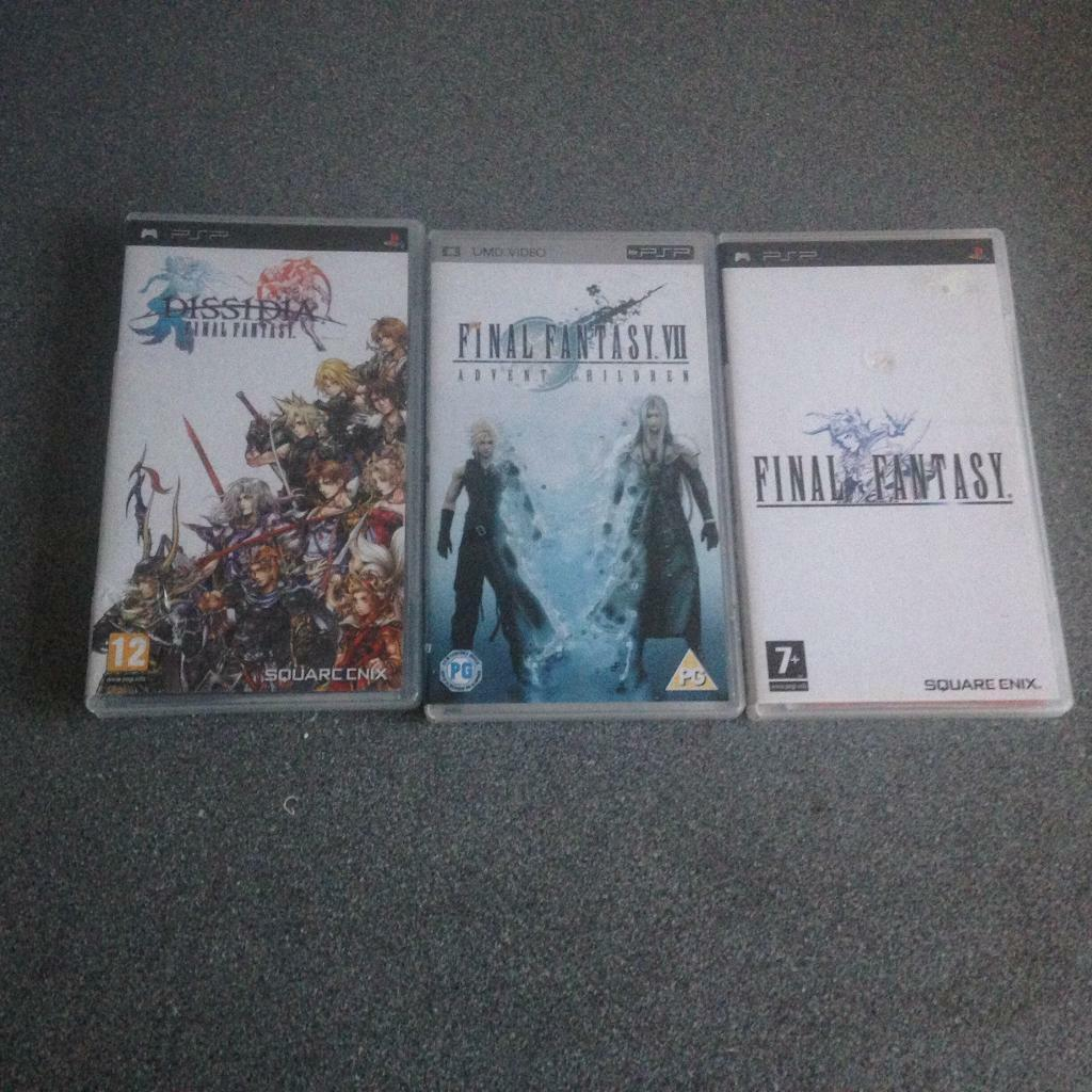 Sony PSP games final fantasy