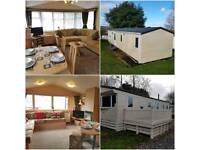 6 & 8 BERTH STATIC CARAVANS FOR HIRE ON GOLDEN SANDS HOLIDAY PARK, DAWLISH WARREN, DEVON
