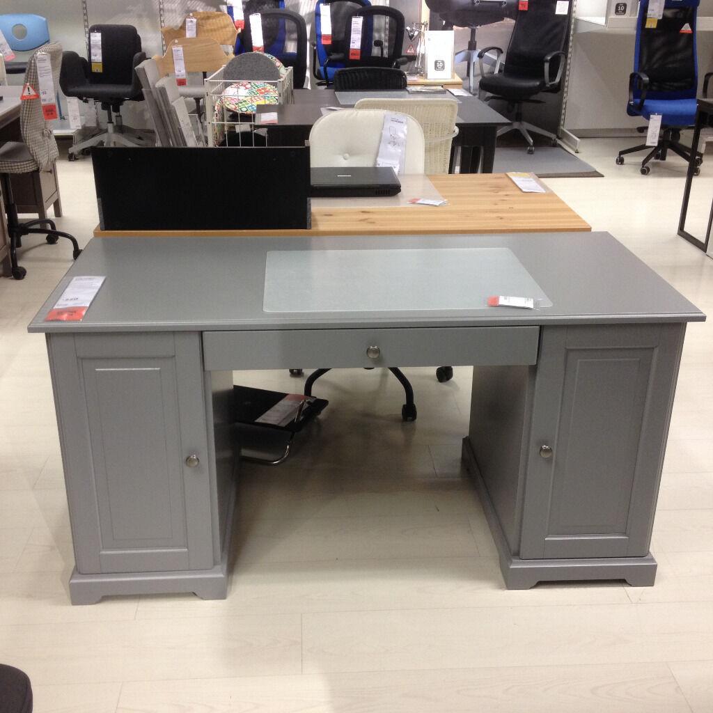 Ikea Liatorp Desk Grey