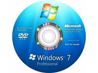 Microsoft Windows 10 or 7 Pro 64 bit & Free maintenence ( check CPU, Memory & Motherboard) FREE dvd!