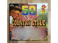 50 Pop Hits Country Style Double LP