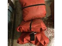 Sandbag weights for bouncy castle hirer