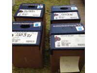 4 GRUNDFOS Water pumps All new £200.00 each