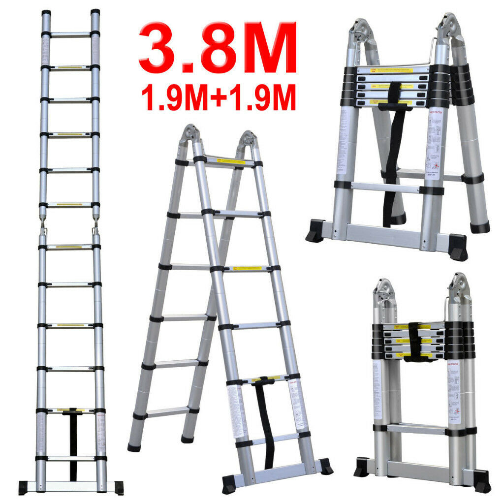 69** Brand New 3.8m A Frame Stepladder Aluminium Telescopic ...