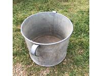 Vintage Galvanised Planter Tub Plant Pot Garden Feature