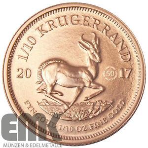 Süd-Afrika - 1/10 Rand 2017 - Krügerrand Privy Mark - 1/10 Oz. Gold Stempelglanz