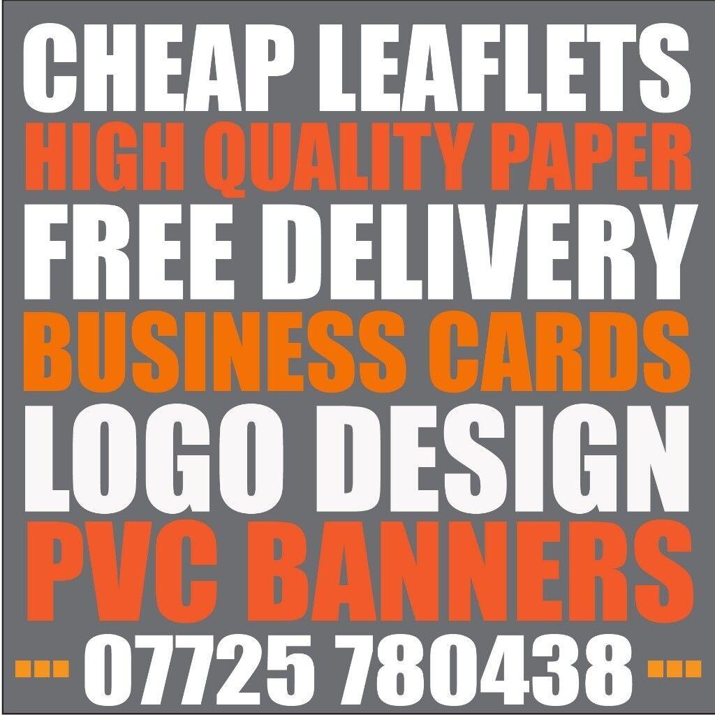 cheap leaflet printing menu printing graphic design service