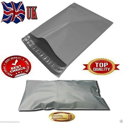 100 x Plastic Strong Packaging Postal Polythen Grey Mail Bag 9x12 inch/23x30cm