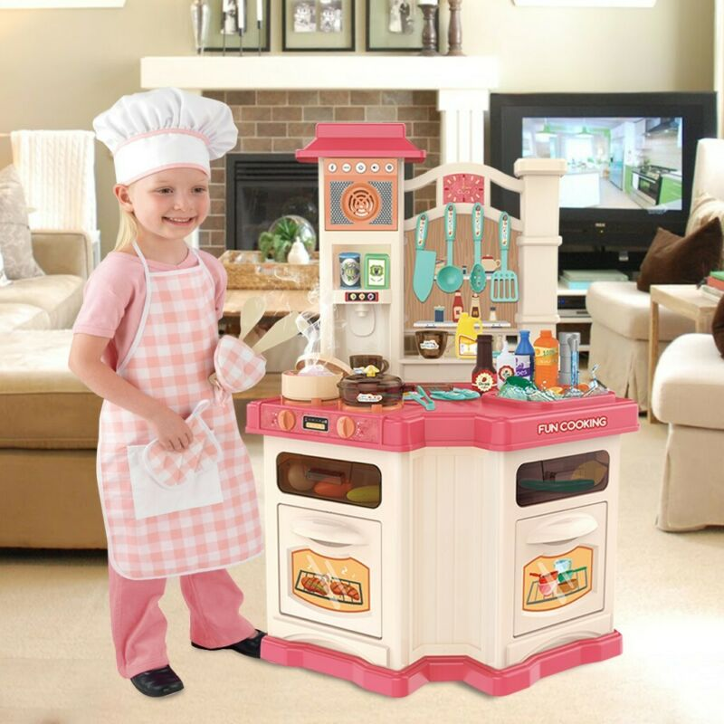 Kids Supermarket Ice Cream Cart Shop Dessert Food Pretend Ro